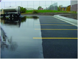 Porous Asphalt Parking Lots